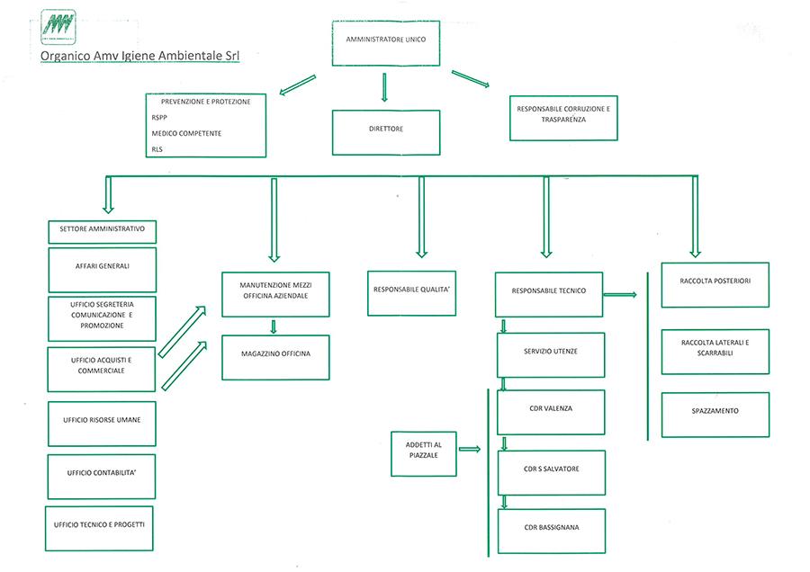 Organigramma AMV Ambiente